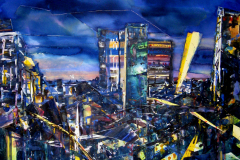 city lights 130x110cm 2009